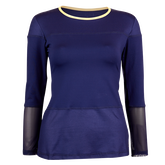 Alternate View 2 of Allure Collection:  Long Sleeve Mesh Accents Top