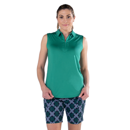 Appletini Collection: Sleeveless Solid Polo