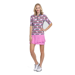 Meadow Collection: Fractured Stripe Short Sleeve Top