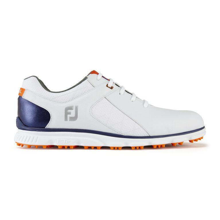 FootJoy Pro/SL Men's Golf Shoe - White/Navy/Orange