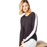 Biltmore Collection: Track Stripe Long Sleeve Top