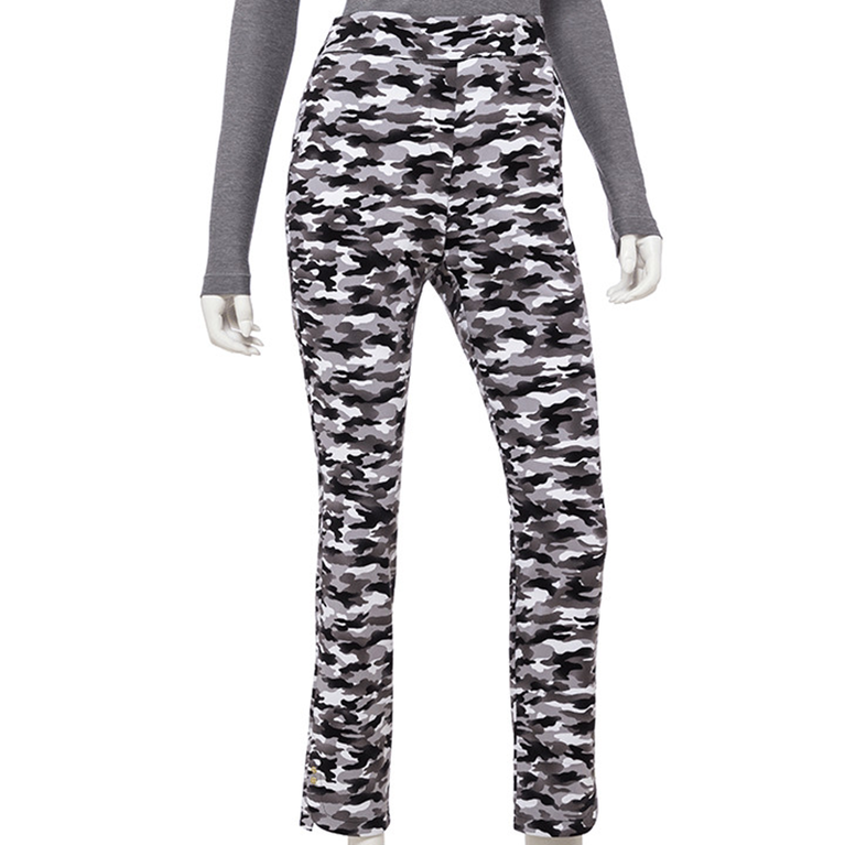 Wild Card Collection: Tonal Camo Print Ankle Pant
