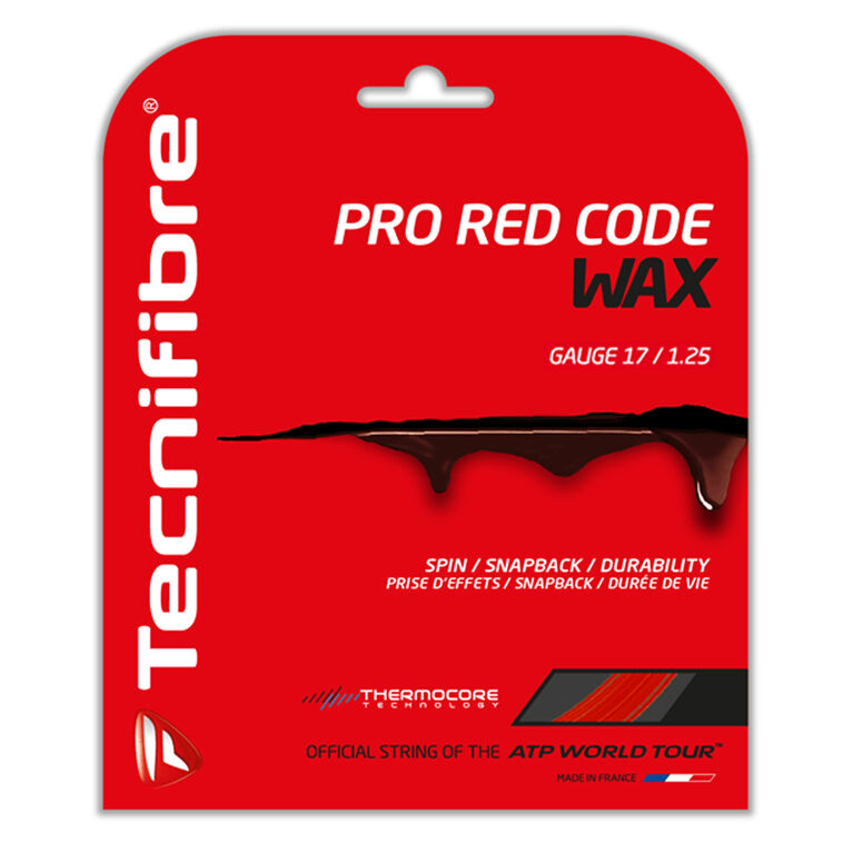 Tecnifibre Pro Redcode Wax 18  Gauge String Set - Red