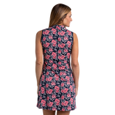 Alternate View 4 of Huntington Collection: Crosby Sleeveless Floral Print Dress
