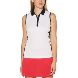 Sail Away Collection: Sleeveless Color Block Golf Shirt