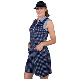 Cape May Collection: Sleeveless Dot Print Dress