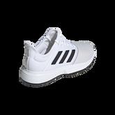 Alternate View 2 of adidas GameCourt WIDE Men's Tennis Shoe - White/Black