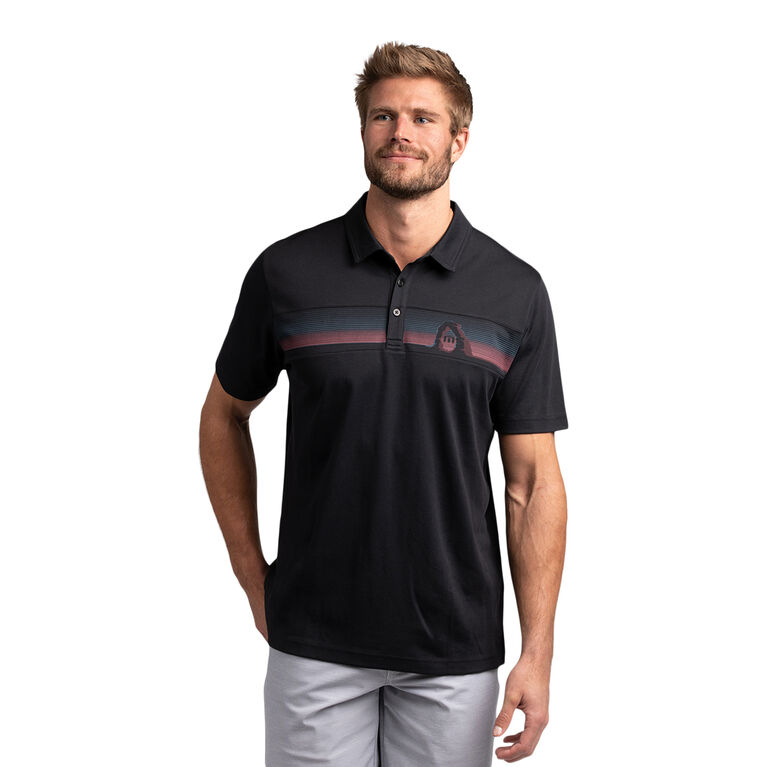 Under The Arches Chest Stripe Polo