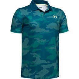 Performance Textured Printed Boys' Golf Polo Shirt