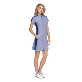 Alternate View 1 of Greek Isles Collection: Katie Short Sleeve Striped Jacquard Dress