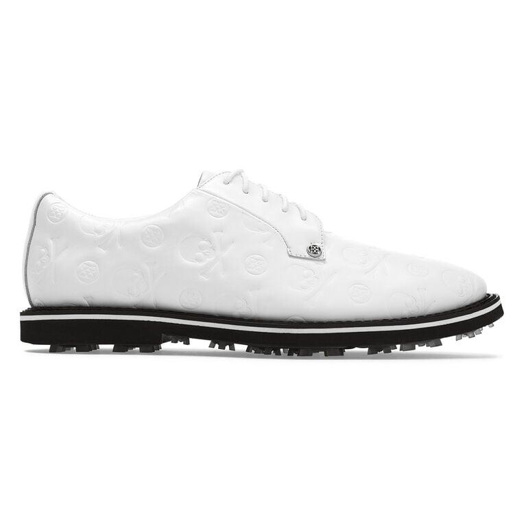 Skull Embossed Gallivanter Men's Golf Shoe - White/Black