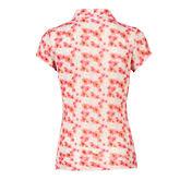 Poppy Group: Tori Blush Mesh Polo Shirt