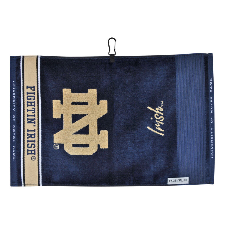 Team Effort Notre Dame Face/Club Jacquard Towel