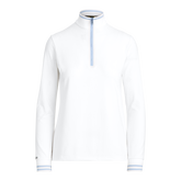 Alternate View 4 of Long Sleeve Ribbed Trim Quarter Zip Pull Over
