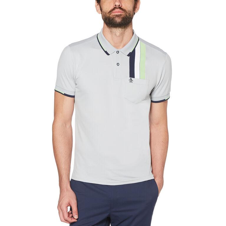 Vertical Chest Stripe Golf Polo