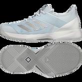 Alternate View 11 of Adizero Ubersonic 3 Women's Tennis Shoe - Light Blue/White