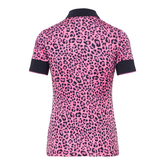 Alternate View 7 of Lexie Short Sleeve Coolmax Leopard Print Polo