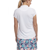 Alternate View 2 of Tropical Collection: Mesh Panel Cap Sleeve Top