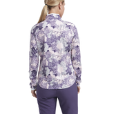 Alternate View 2 of Impatiens Collection: Women's Long Sleeve Floral Quarter Zip Pull Over