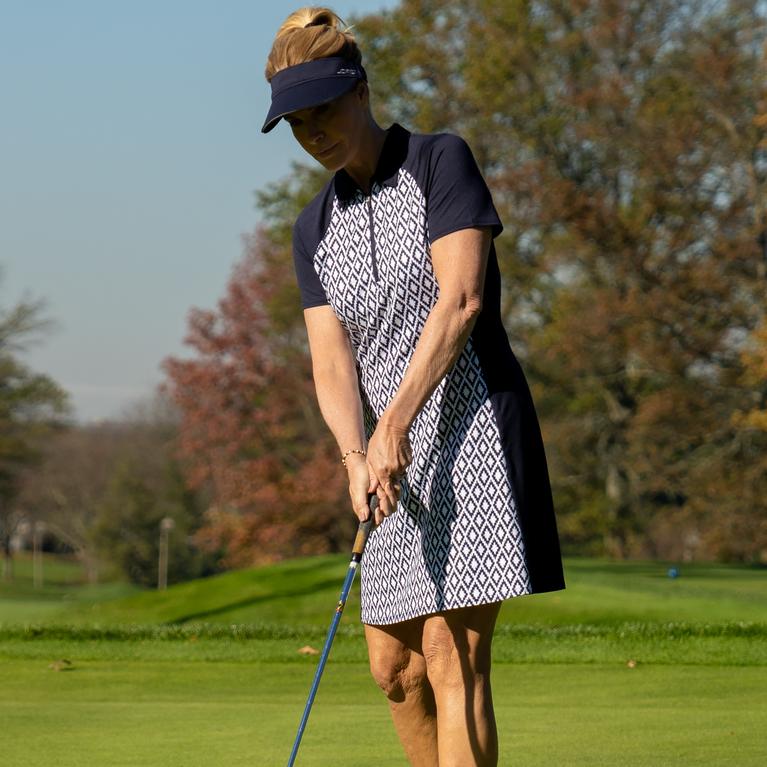 NashVegas Collection: Short Sleeve Ikat Print Dress