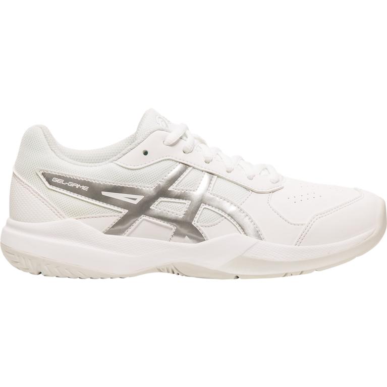 Gel-Game 7 GS Juniors Tennis Shoe - White/Silver