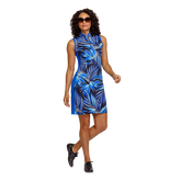 Alternate View 5 of Palm Springs Collection: Danville Frayed Front Print Sleeveless Dress