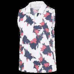 Sleeveless Floral Polo Shirt
