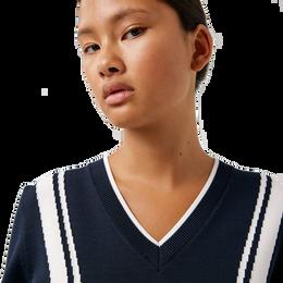 Bianca Long Sleeve V-Neck Golf Sweater