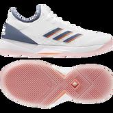 Alternate View 3 of Adizero Ubersonic 3 Women's Tennis Shoe - White/Blue