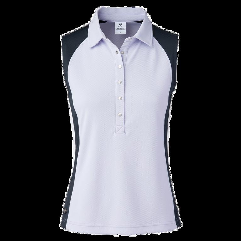 Colorblock Sleeveless Polo Shirt
