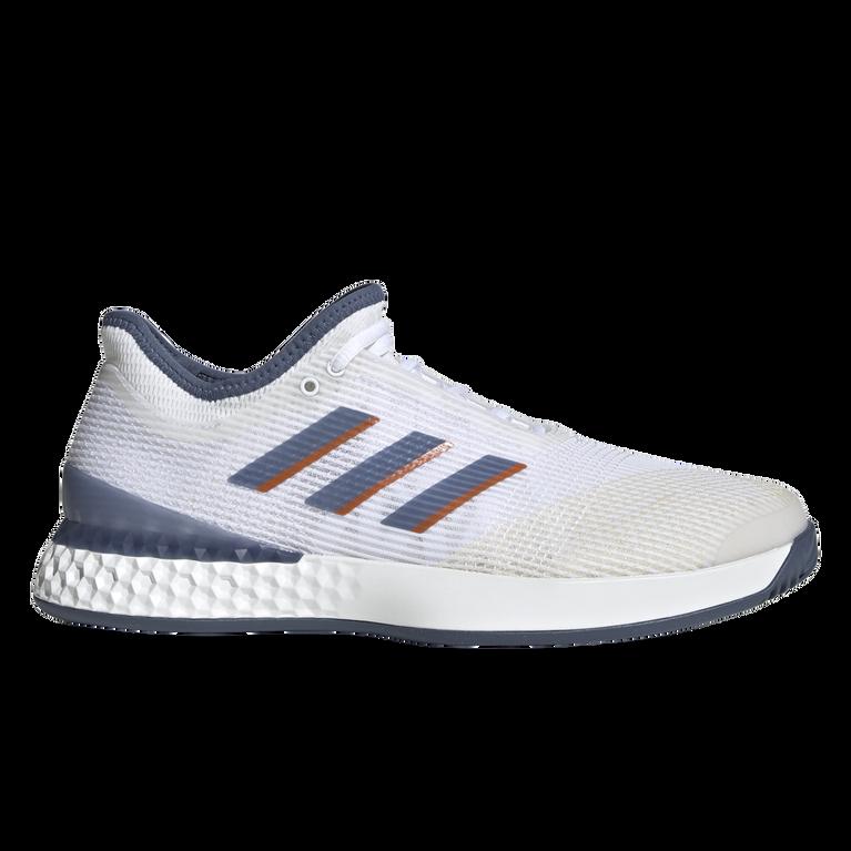 Adizero Ubersonic 3 Men's Tennis Shoe - White/Blue