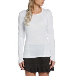 Lace Insert Long Sleeve Tee Shirt