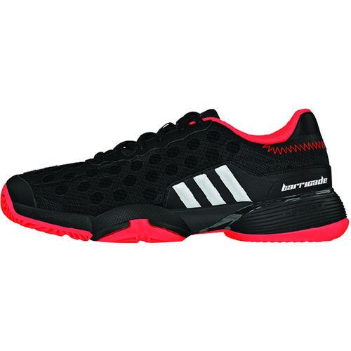 adidas Barricade 9 Junior Tennis Shoe - Black/Red