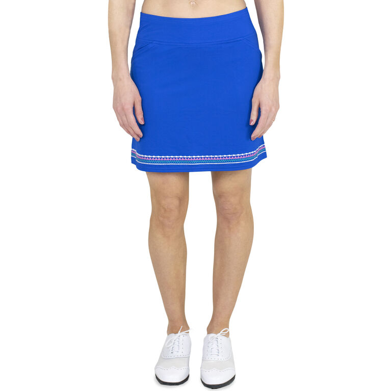 Embroidered Skort Long - Nautical Blue