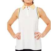 Alternate View 4 of Biltmore Collection: Sleeveless Piped Rib Trim Top