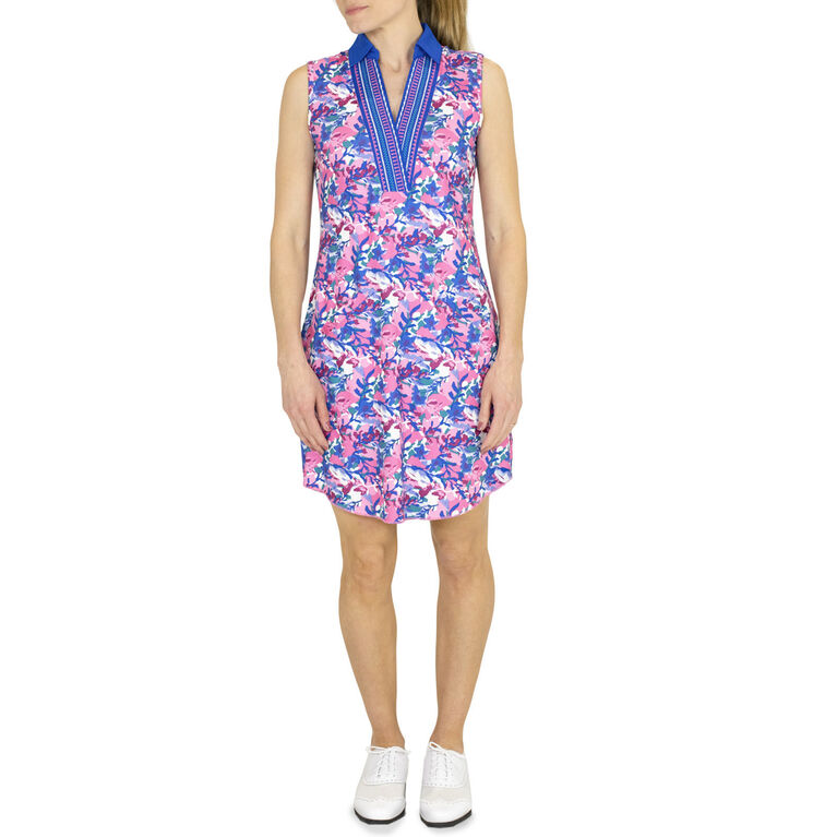 Embroidered Placket Dress with Undershorts - Artois