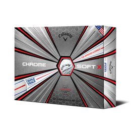 Chrome Soft X Triple Track Golf Balls - Personalized