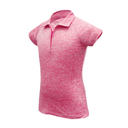 Courtney - 1/4 Zip Performance Short Sleeve Spacedye Golf Polo