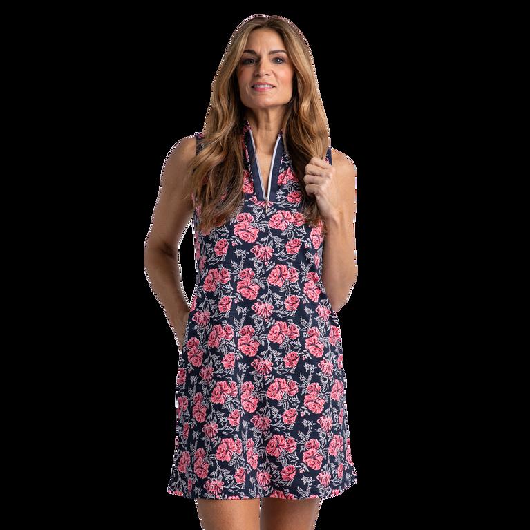 Huntington Collection: Crosby Sleeveless Floral Print Dress
