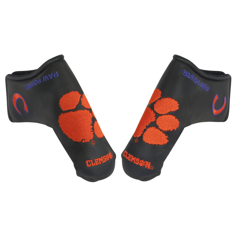 Team Effort Clemson Black Putter Cover