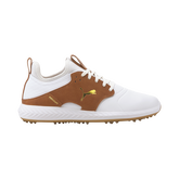 IGNITE PWRADAPT Caged Crafted Men's Golf Shoe - White/Brown