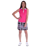 Risk Taker Performance Plaid Skort