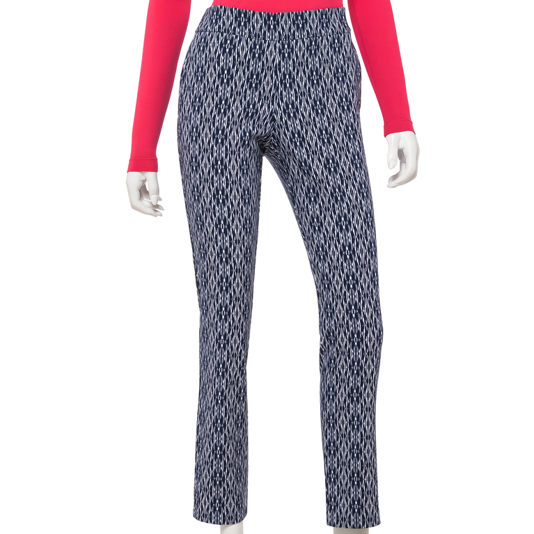 The Gemstones Collection: Ikat Print Pull On Ankle Pant
