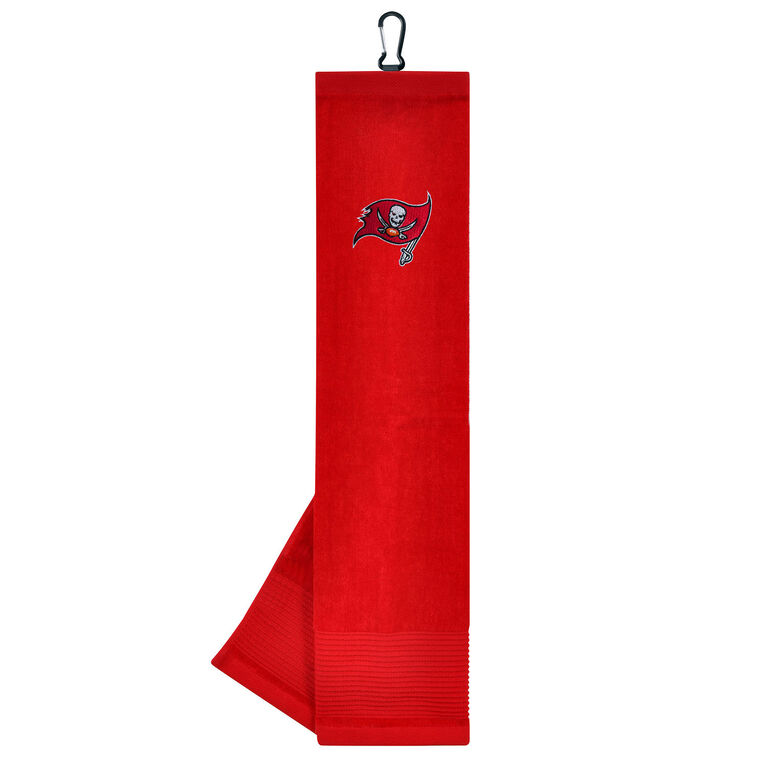 Team Effort Tampa Bay Buccaneers Face/Club Tri-Fold Embroidered Towel