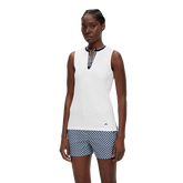 Leya Sleeveless JL Placket Polo Shirt