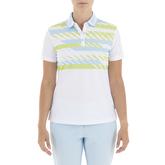 Gelato Collection: Gabi Short Sleeve Stripe Front Polo