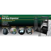 Golf Gifts & Gallery Black Metal Golf Bag Organizer in package