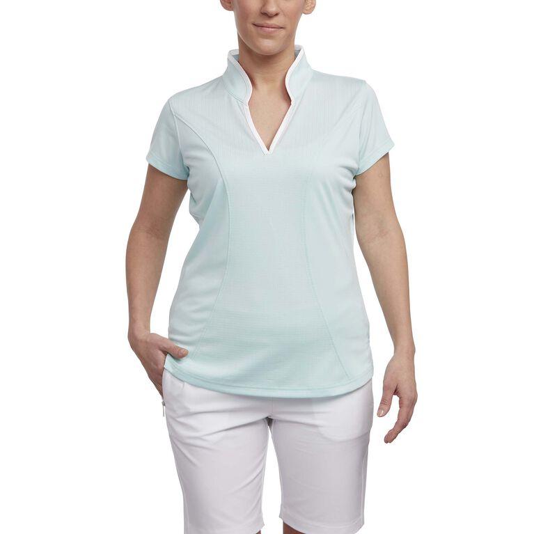 Pink Glo Group: Short Sleeve Jacquard Polo