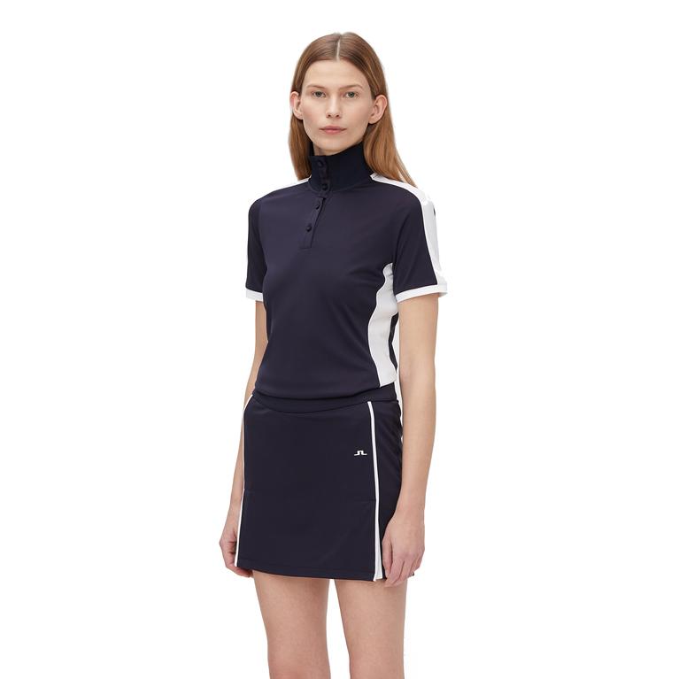Juliette Short Sleeve Solid Zip Top