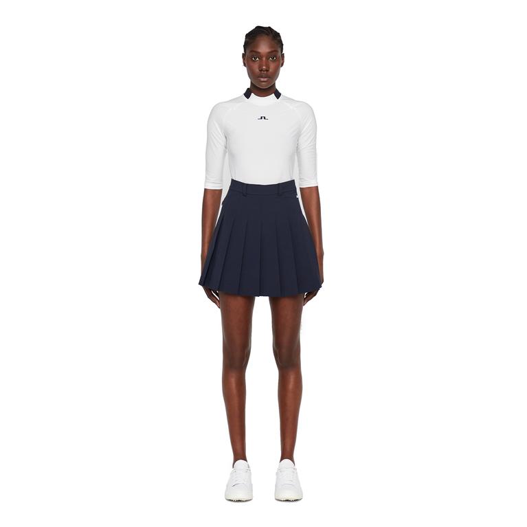 Adina Solid Pleat Micro Stretch Skirt